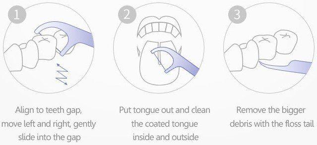 """50er Pack Xiaomi Zahnseide """"Dental Floss"""" für 0,89€"""