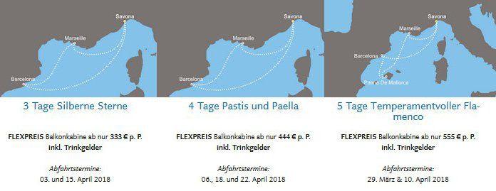 Costa Weihnachtsfreuden: Mini Kreuzfahrten im Mittelmeer ab 333€ p.P.