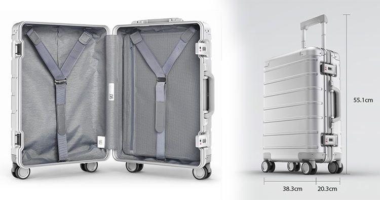 Xiaomi Koffer aus stabilem Aluminiumgehäuse (31 L) & TSA Schloss für 123,99€ (statt 160€)   aus DE