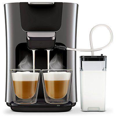 Philips HD6574/50 Kaffeepadmaschine (Senseo Latte Duo,  Integrierter Milchaufschäumer inkl. Milchkaraffe ) für 149€ (statt 175€)
