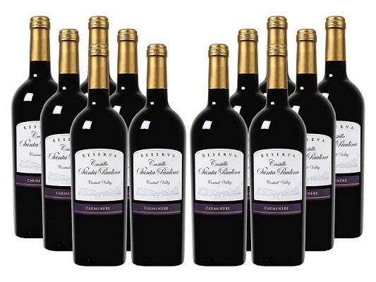 12 Flaschen Castillo Santa Paulina   Carmenère Reserva (2015) für 39,99€ (statt 81€)