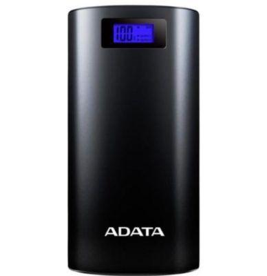 ADATA Powerbank P20000D mobiler Akku mit 20000mAh + integrierte LED Taschenlampe für 24,99€