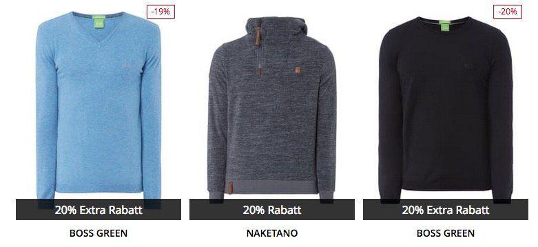 Peek & Cloppenburg* 20% Adventsvorteil Rabatt für Herren und Damen Strick & Sweater
