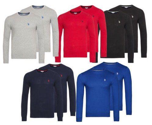 2er Pack U.S. POLO ASSN. Rundhals Sweater für 49,99€