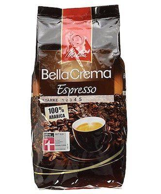 Ausverkauft! Melitta BellaCrema Cafe Espresso Bohnen (1 kg) ab 5,27€ (statt 12€)   Plus Produkt!