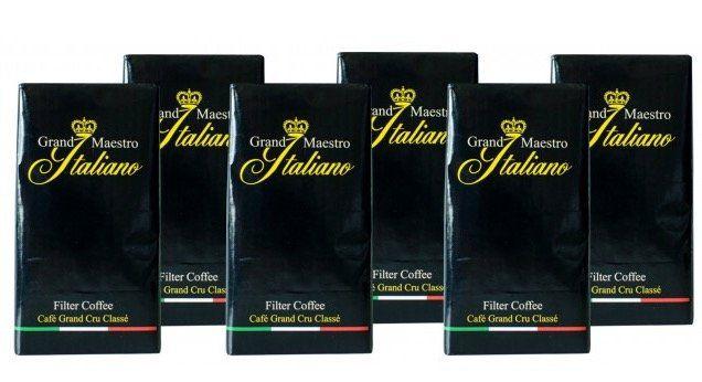 3kg Grand Maestro Italiano Kaffee (gemahlen) für 31,94€ + gratis Kaffee Clip