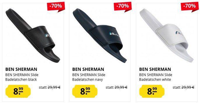 Ben Sherman Badelatschen für 8,99€ oder Schnürschuhe für 34,99€