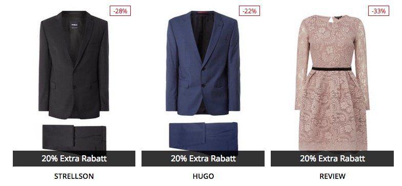Peek & Cloppenburg* Advents Sale mit +20% extra Rabatt auf bereits reduzierte Anzüge & Kleider