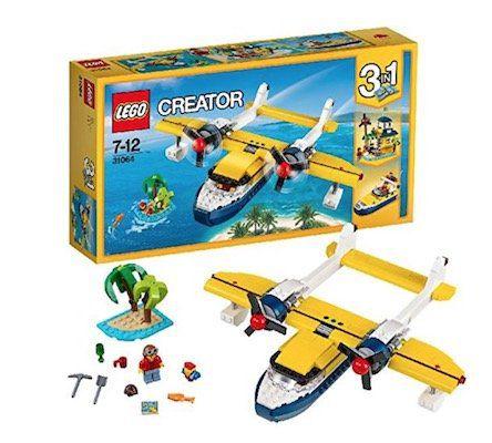Lego Creator   3 in 1 Wasserflugzeug Abenteuer (31064) für 17,59€ (statt 25€)