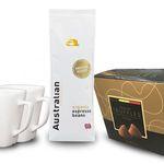 Weihnachts-Geschenkbox mit Kaffee, Trüffel & Tassen für 19,99€