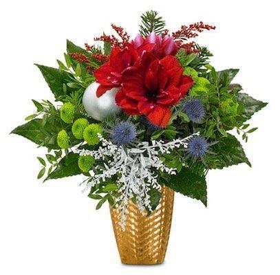 Weihnachtsgruß Blumenstrauß mit über 30cm Durchmesser für 19,98€