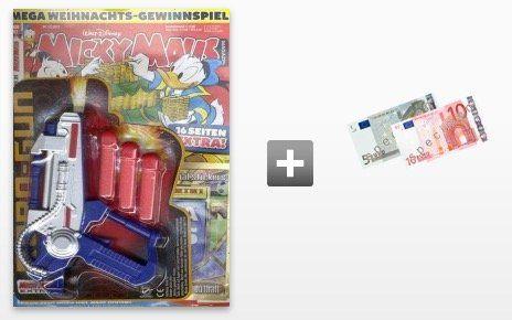 7 Ausgaben Micky Maus für 16,87€ + 15€ Verrechnungsscheck