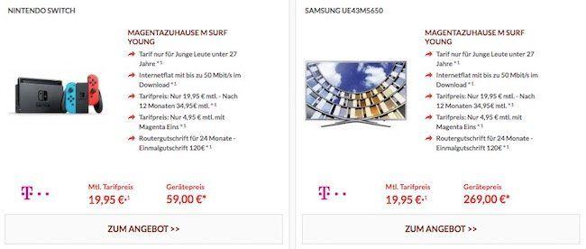 Telekom Magenta Zuhause Angebote mit tollen Prämien (Nintendo Switch, PS4 Pro uvm.)   MagentaEins Vorteil möglich