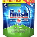 Schnell? 110er Pack Finish All in 1 Spülmaschinentabs für 8,43€ (statt 15€)