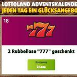 Gratis 2 Rubbellose 777 bei Lottoland   auch für Bestandskunden