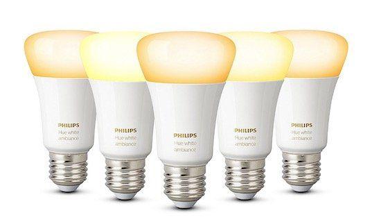 Schnell? 5er Pack Philips Hue White E27 LED Lampe (dimmbar) für 73,94€ (statt 120€)