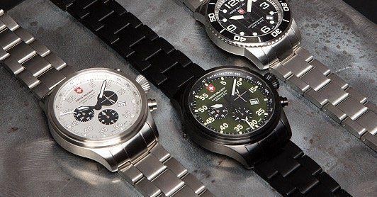 Swiss Military Herren Uhren im Tagesangebot bei vente privee   z.B. Modell Marlin in Schwarz für 226,90€ (statt 344€)