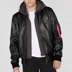 Alpha Industries MA-1 D-Tec Leather Lederjacke für 311,96€ (statt 350€)