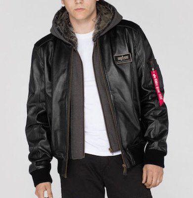 Alpha Industries MA 1 D Tec Leather Lederjacke für 311,96€ (statt 350€)