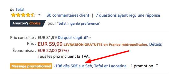 Tefal Ingenio Preference Pfannen Set (2 teilig, 26cm + 22cm) für 56,33€ (statt 78€)
