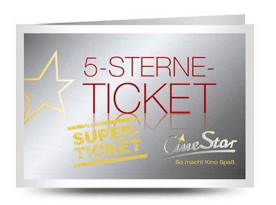 Last Minute Geschenk? Cinestar 5 Sterne Superticket zum Ausdrucken für 25€ (statt 35€)