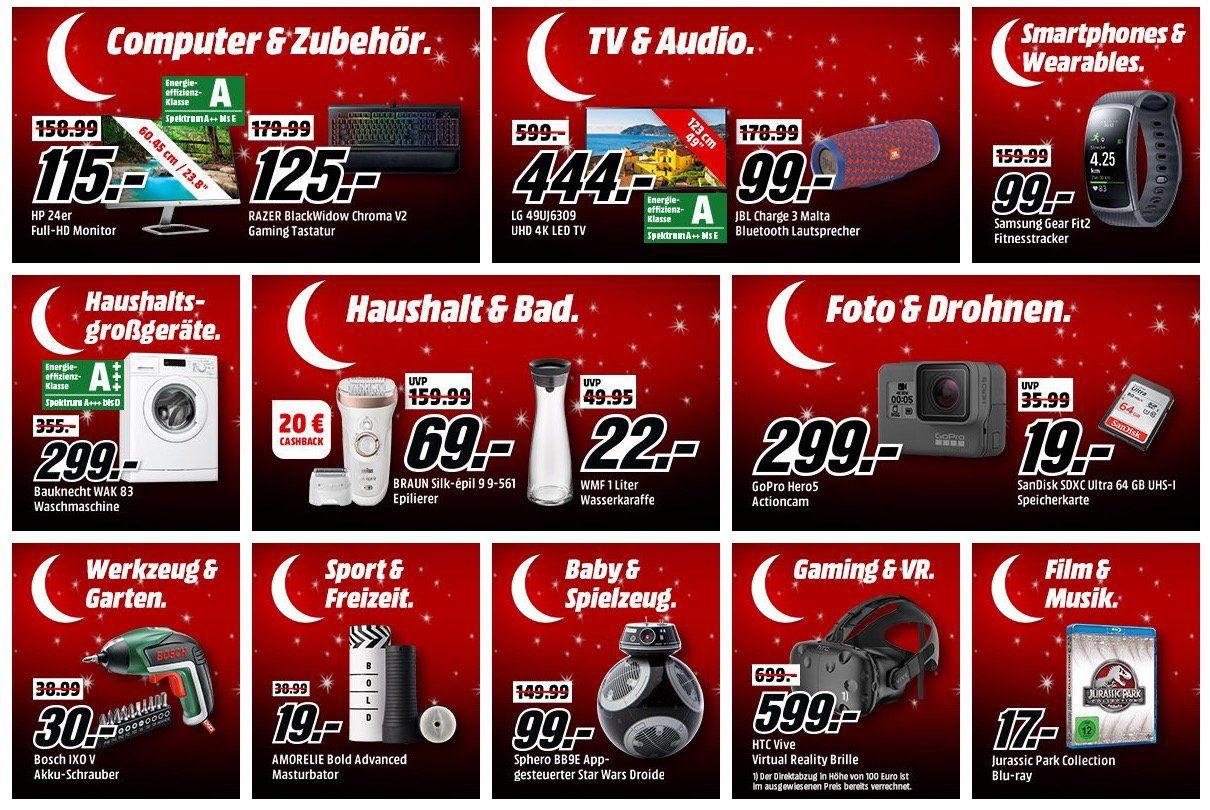 """Media Markt """"Mega Tiefpreisspätschicht"""" mit vielen guten Deals (ca. 500 Stück)   Noch aktiv!"""