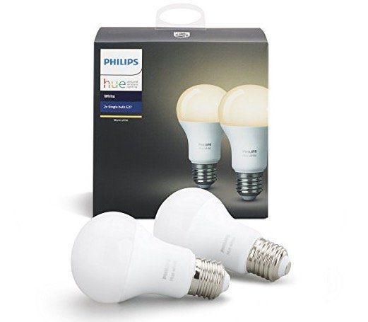 2er Pack Philips Hue White E27 9,5W (dimmbar) für 19,15€ (statt 29€)