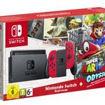 Nintendo Switch in Rot + Super Mario Odyssey für 297,39€ (statt 350€)