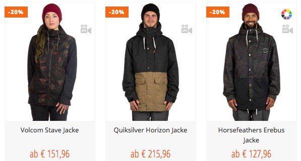 20% Rabatt auf alle Snowboardjacken  und Hosen + kostenloser Versand bei Blue Tomato