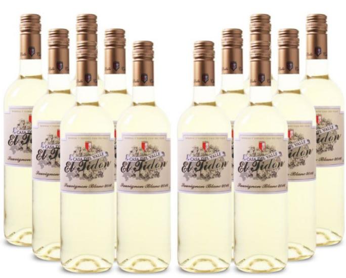 12 Flaschen Casa del Valle El Tidon Sauvignon Blanc für 49,99€ (statt 66€)