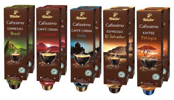 Tchibo Saeco Cafissimo Tuttocaffè Kapselmaschine + 60 Kapseln + Kapselhalter für 49,99€