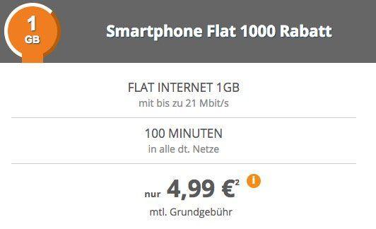 Telekom Tarif mit 100 Minuten + 1GB für 4,99€ mtl.