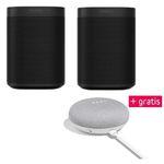 2x Sonos One + Google Home mini für 379€ (statt 430€)