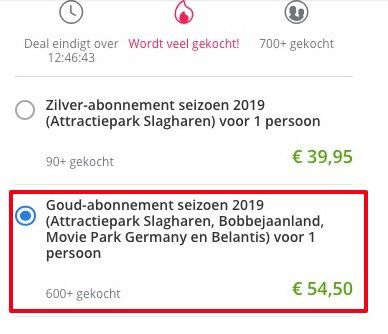 Slagharen Jahreskarte Gold für 43,60€   z.B. 1 Jahr kostenfreier Eintritt in den Movie Park