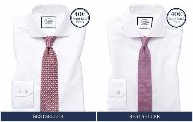 Knaller: 3er Pack Charles Tyrwhitt Hemden für 69€+ 7,95€ VSK (statt 109€)
