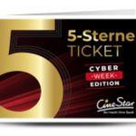 Cinestar 5-Sterne-Ticket bei Groupon für 27,50€ (statt 35€) – 3D Filme mit Aufschlag