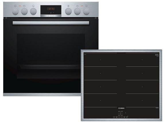 Bosch HND419OS60 Einbauherd Set mit Induktions Kochfeld für 999€