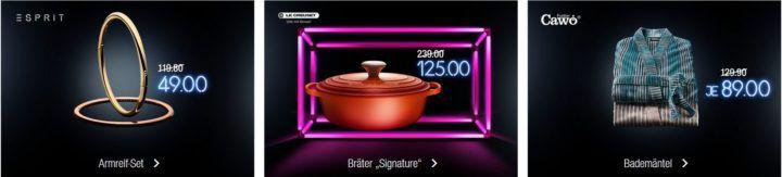 Kaufhof Adventskalender heute: z.B. Cawö Bademäntel für 89€ statt 129,90€   Le Creuset Bräter für 125€