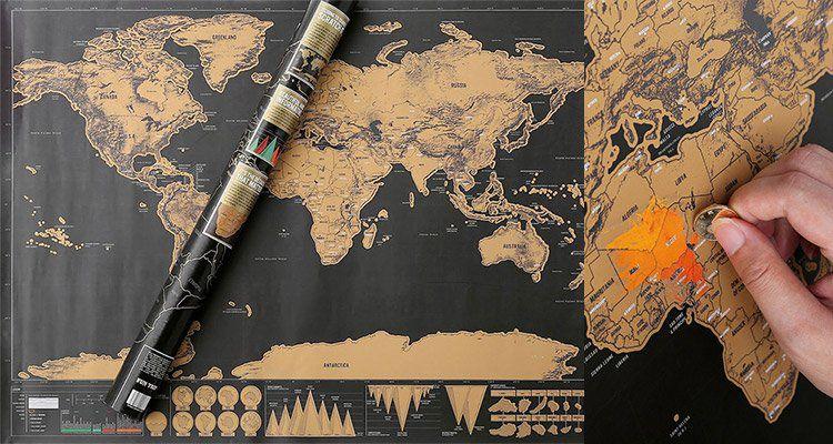 XXL Rubbel Weltkarte für 2,03€