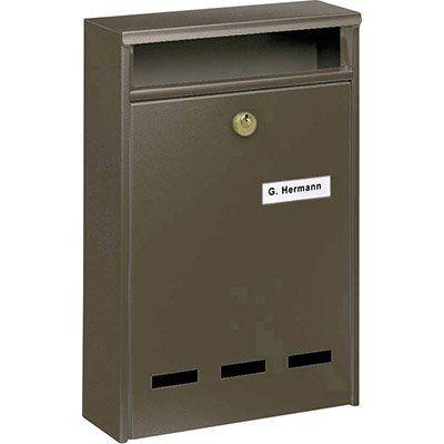 Burg Wächter 7650 Stahlblech Briefkasten mit Schlüsselschloss für 18,44€ (statt 40€)