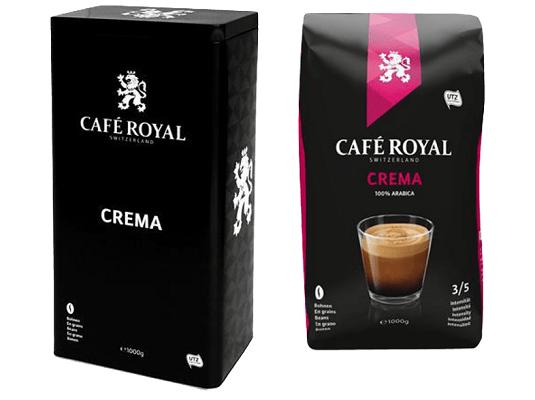 1kg Cafe Royal Crema Kaffeebohnen für 7,77€ (statt 10€)