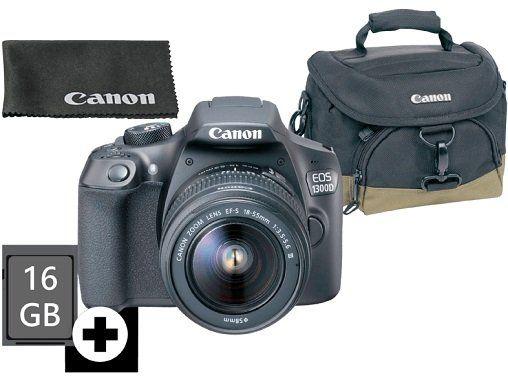 CANON EOS 1300D Spiegelreflexkamera + EF S 18 55mm Objektiv für 266€ (statt 349€)