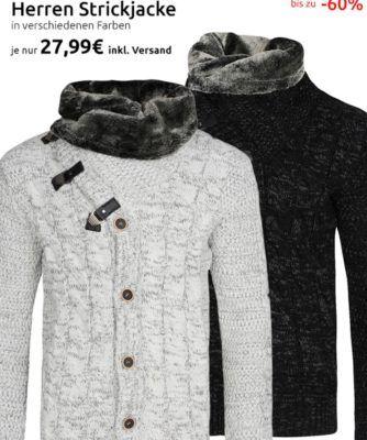 CARISMA Rope Herren Strick Jacken für je 27,99€