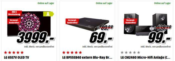 Media Markt LG Tiefpreisspätschicht   günstige TVs, Smartphones, Komplettanlagen