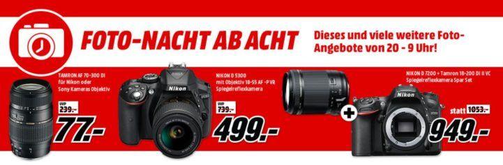 Media Markt Foto Late Night: z.B. TAMRON A17NII Telezoom für Nikon AF oder Sony A für 77€