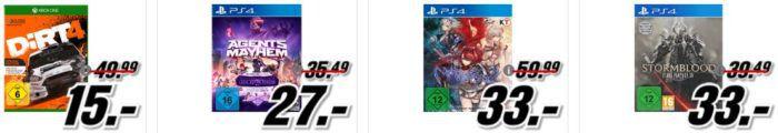 DiRT 4 (Special Edition) [Xbox One] für 15, € uvm. im Media Markt Dienstag Sale