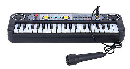 Mini Keyboard mit 37 Tasten, Mikrofon & vielen Extras für 7,46€ (statt 12€)
