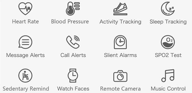 MY3   farbenfrohe Smartwatch mit vielen Funktionen für 11,61€