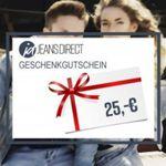 Nur Heute: Jeans-Direct Geschenkgutscheine mit 20%  Rabatt – Last Minute Weihnachtsgeschenk