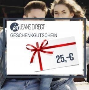 Nur Heute: Jeans Direct Geschenkgutscheine mit 20%  Rabatt   Last Minute Weihnachtsgeschenk